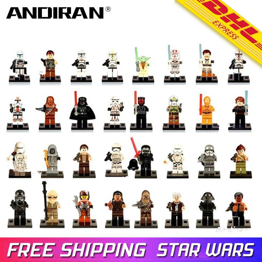 Single Sale LegoINGly Star Wars Luke Leia Han Solo Anakin Darth Vader Yoda Jar Jar Building Block Toys Starwars Legoingly Figure