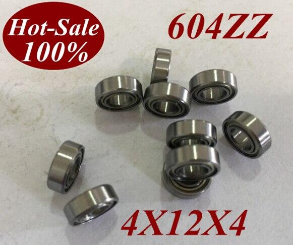 50Pcs ABEC 5 High Quality Miniature Ball Bearing 604ZZ 604Z 604 ZZ 604 ZZ 4x12x4 MM