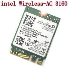 Intel 3160 3160NGW Dual Band Беспроводной AC + Bluetooth4.0 NGFF WiFi карты 802.11AC Беспроводной Linux Win7 Win8 Win10