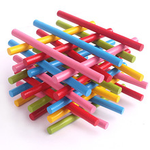 100pcs Montessori Colorful Bamboo Counting Sticks Mathematics Teaching Aids Counting Rod Kids Preschool Math Learning Toy counting