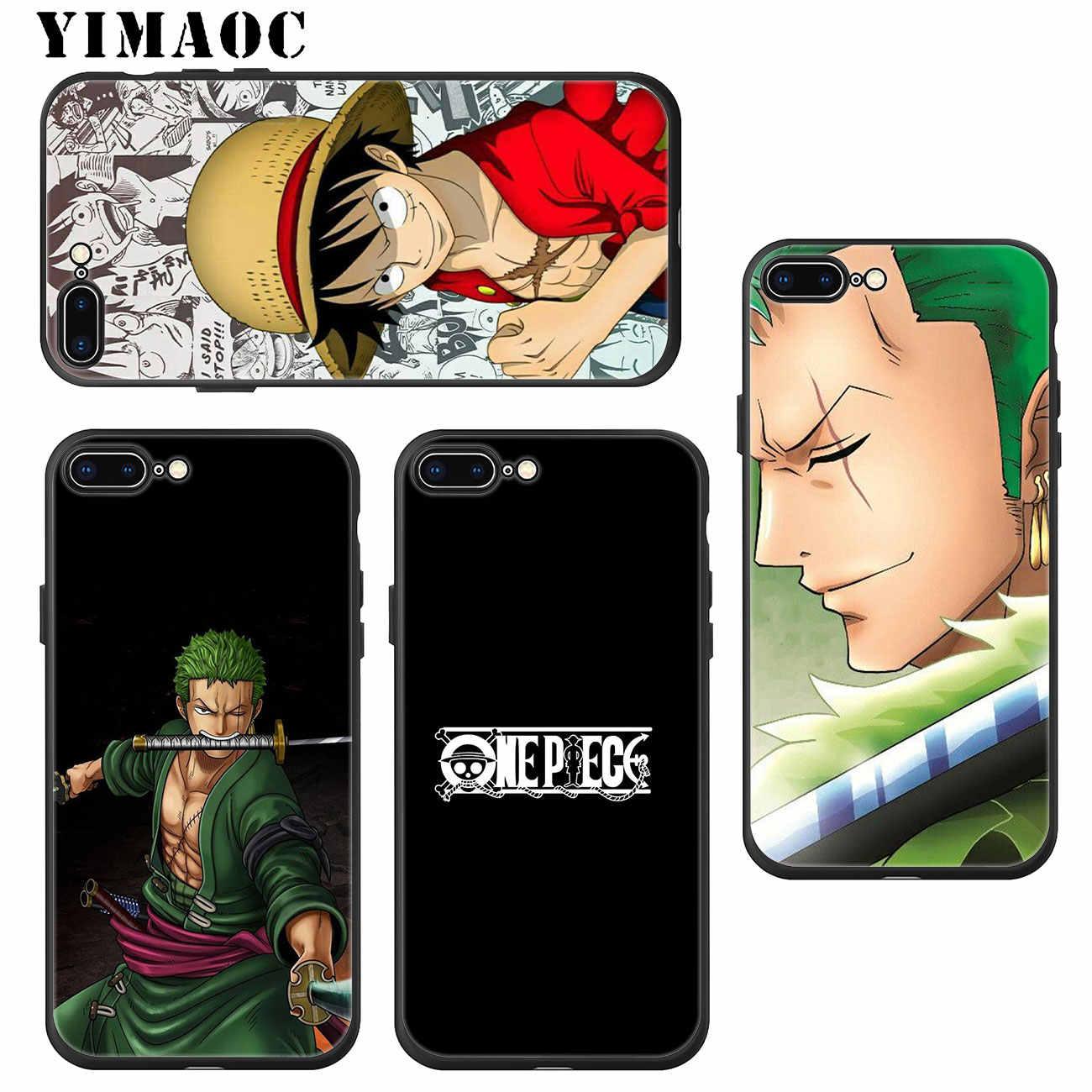 YIMAOC ZORO one piece Monkey D Luffy Мягкий силиконовый чехол для телефона iPhone XS Max XR X 6 6 S 7 8 Plus 5 5S SE 10 TPU черный чехол