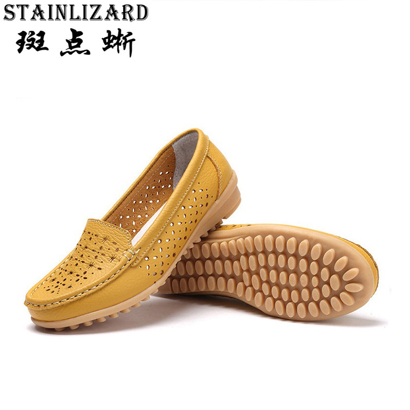2017 New Fashion Woman Flats Cut-outs Comfortable Women Shoes Casual Solid Color Round Toe Summer Loafers DT918 new fashion 2016 summer korean style woman flats cut outs breathable bowtie flat single shoes sweet concise casual flats st385