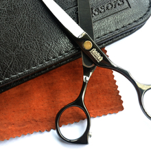 Black titanium 5.5 inch high quality hairdresser hair scissors set Free Shipping hair salon product hot sale gift for you 11.11