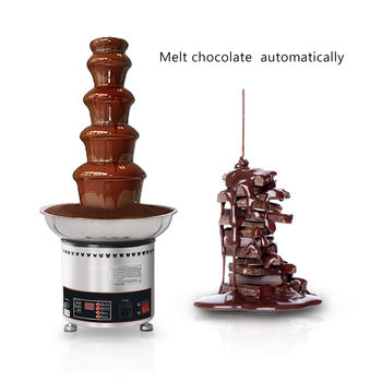 ITOP 5 Tiers Chocolate Fountain Party Hotel Commercial Chocolate Waterfall Fountain Food Processor CE Certificate 110V/220V/240V цена 2017