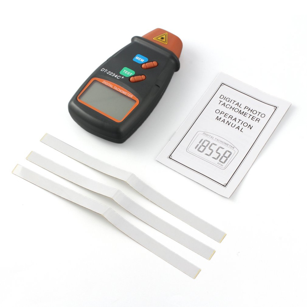 1set Digital Laser Tachometer RPM Meter Non-Contact Motor Speed Gauge Revolution Spin Free Shipping laser type tachometer portable digital tachometer