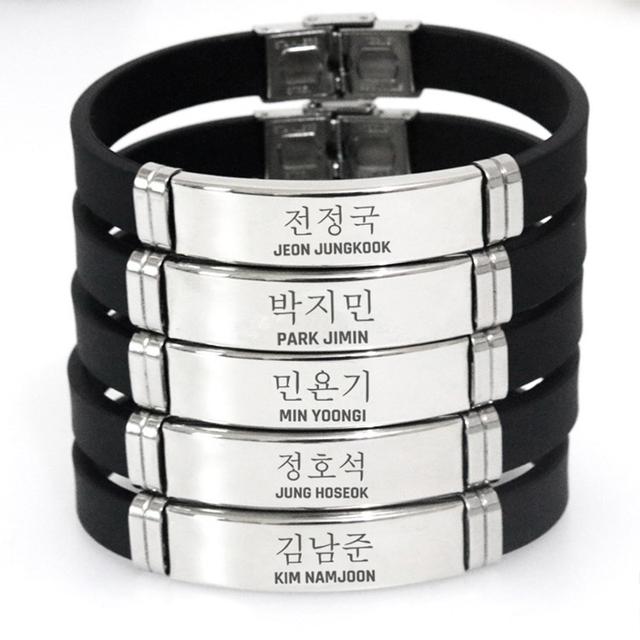 BTS Titanium Steel Adjustable Bracelet