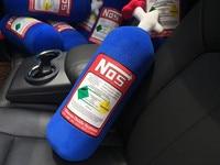 Auto JDM NOS Nitrous Car Cushion Seat Cover Hellaflush Turbo Neck Rests Pillow Bolster NOS Headrest