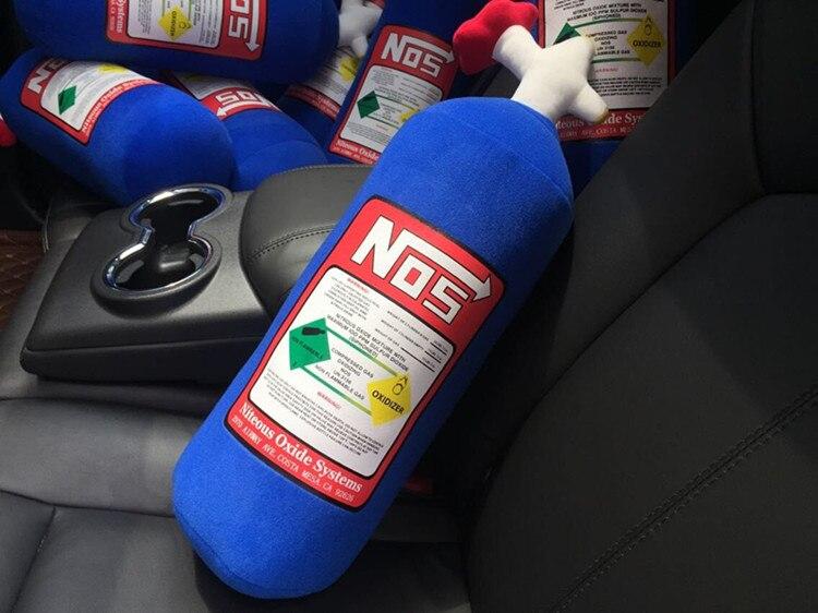 Auto JDM NOS Nitrous Auto Kissen Sitzbezug Hellaflush Turbo Neck Ruht Kissen Stärken NOS Kopfstütze Unterstützung