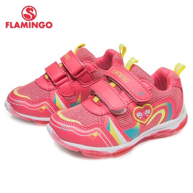 Фламинго новый бренд мода Размер 23-29 удобные весна и осень дышащие крюк и петля детские кроссовки для девочек 81K-BK-0584