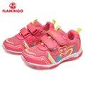 FLAMINGO 2018 nueva marca de moda tamaño 23-29 cómodo primavera y otoño transpirable gancho y bucle los niños zapatillas de deporte para chica 81K-BK-0584