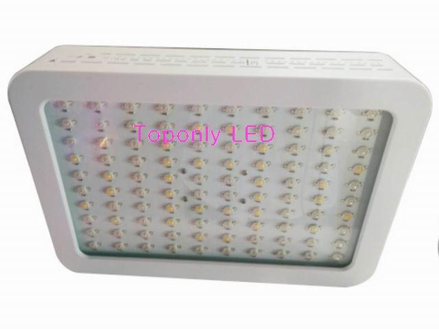 Haute qualité 120 W carré LED plante grandir lampe d'éclairage AC85-265V coque en plastique Portable nouveau Design deux interrupteur pour contrôler R & B & W