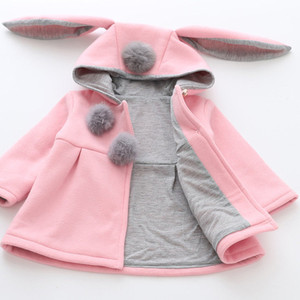 Image 3 - Hot Sale New Autumn&Winter Children Baby Girl Rabbit Ears Long Sleeve Jackets Clothes For 12 months to 4 Years Old Kids Wear