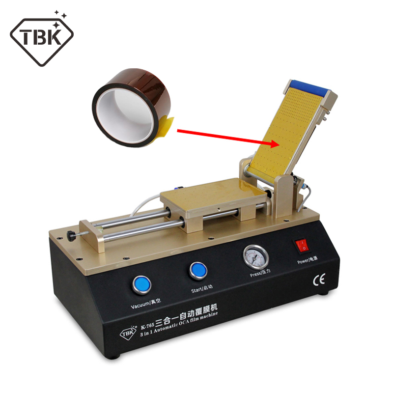 New TBK 765 Arrival 3 in 1 Automatic OCA Laminator Polarizer Film Laminating Machine for iPhone