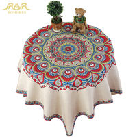 ROMOURS Bohemian Table Cloth Mandala Dining Linen Tablecloths Rectangular 180x130 Multi Sizes Home Party Table Cover