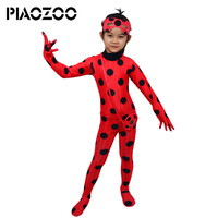 Miraculous Ladybug Kids Halloween Costumes Miraculus Lady Bug Girls Clothing Sets Cartooon VerallsParty Cosplay Costumes SuitP20