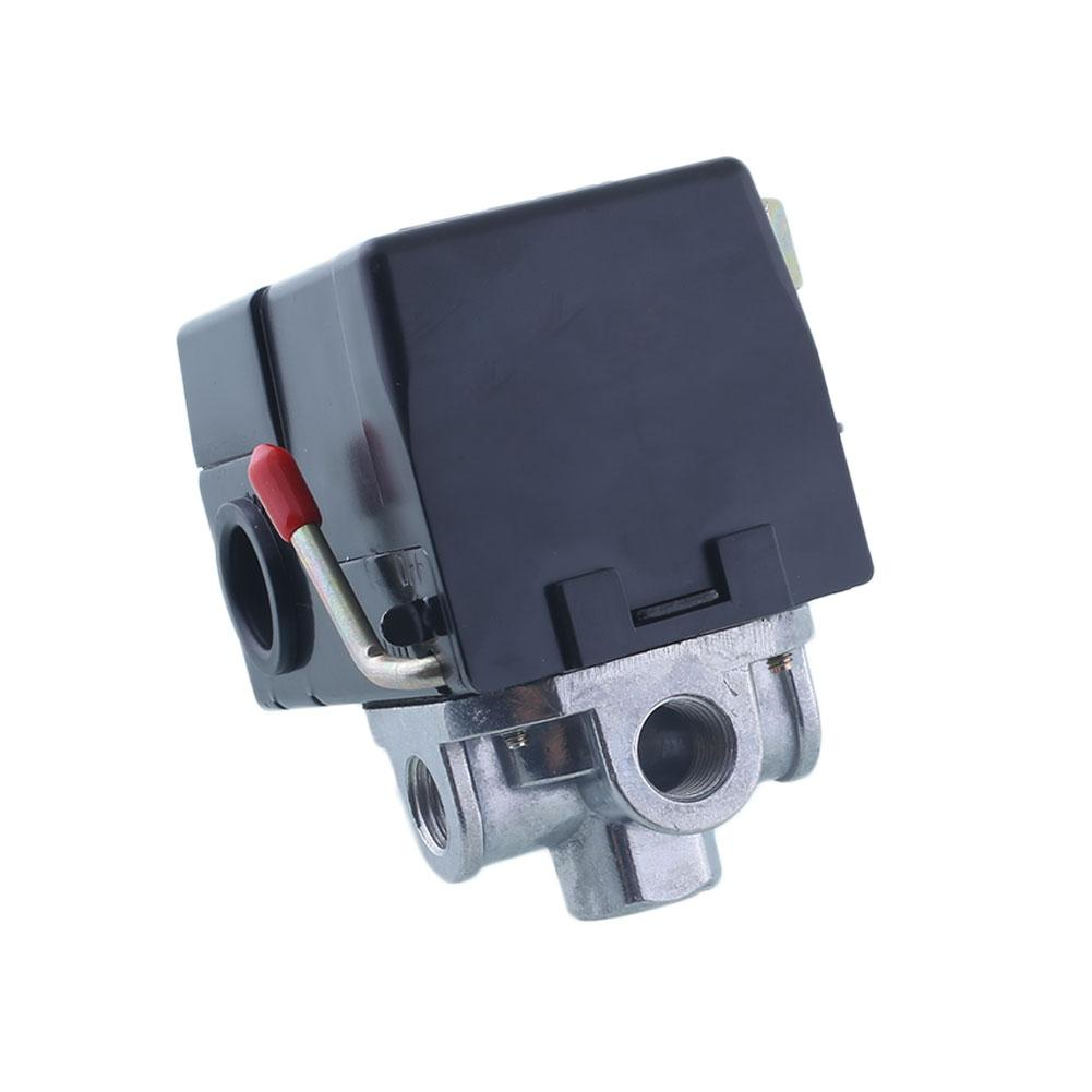 Pressure Switch Control Valve Air Compressor 90-120PSI 4 PORT HEAVY 26 120psi 1 4 inch oil free air compressor safety relief valve