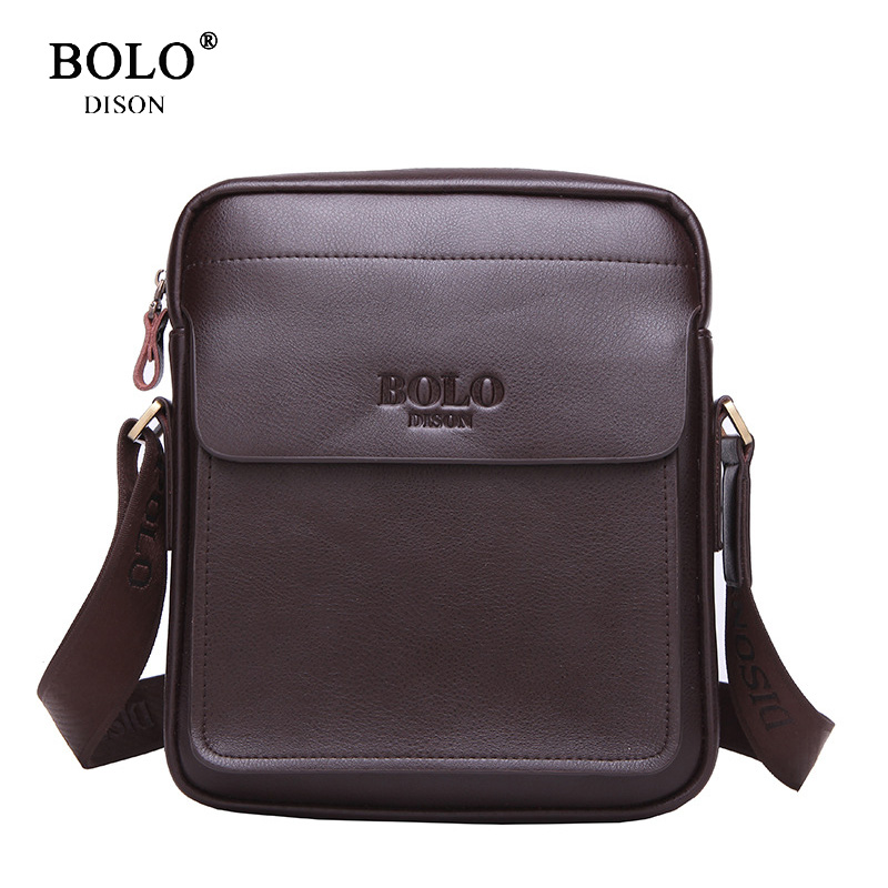 BOLO Brand 2017 Hot sale Men's crossbody Bag Casual design Men pu Leather shoulder bag High quality Men business Messenger bags casual canvas women men satchel shoulder bags high quality crossbody messenger bags men military travel bag business leisure bag