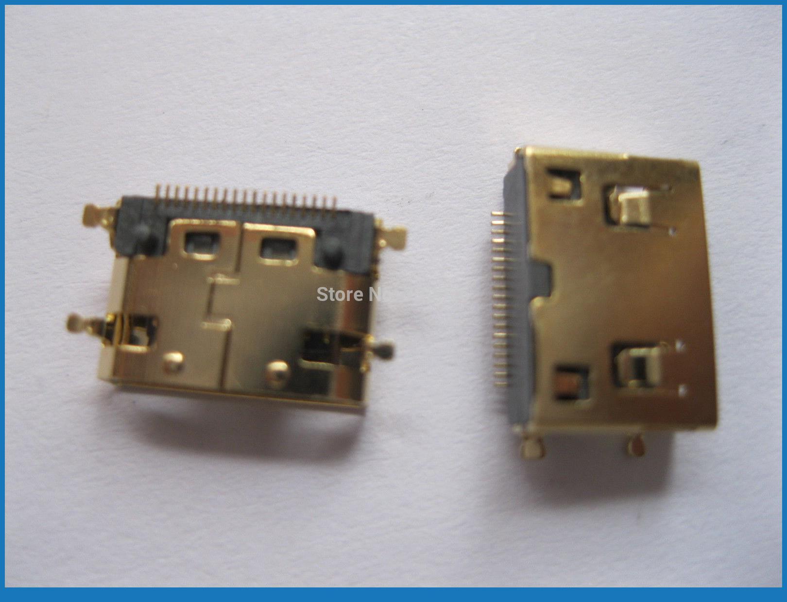 200 шт золотой мини 19pin HDMI гнездовой соединитель SMT 180 градусов