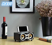 Phone Holder Wireless Bluetooth Speakers Vintage Woody Hawk Eye Designs Cell Phone Cards Subwoofer.