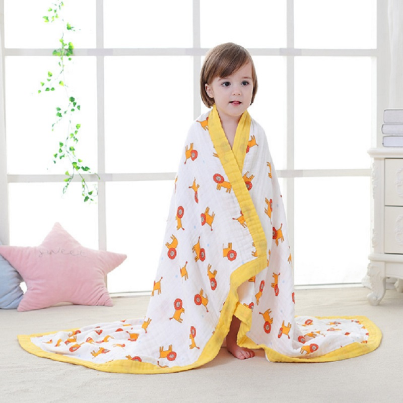 8 Layers Muslin Cotton Soft Baby Blankets Children Winter Thick Baby Swaddle Blanket Bedding Quilt Newborn Wrap Bath Towel Hold цена