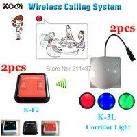 Kabellosen kellner rufsystem glocke K F2 100% wasserdichte anruf für kunden in die fach und K 3L zimmer licht für kellner in den korridor-in Pager aus Computer und Büro bei