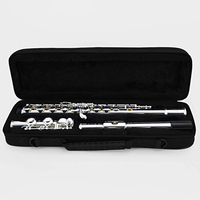 Copper nickel plating C flute 16 hole closed hole E key 16hole beginner student playing professional grading test silver C flute