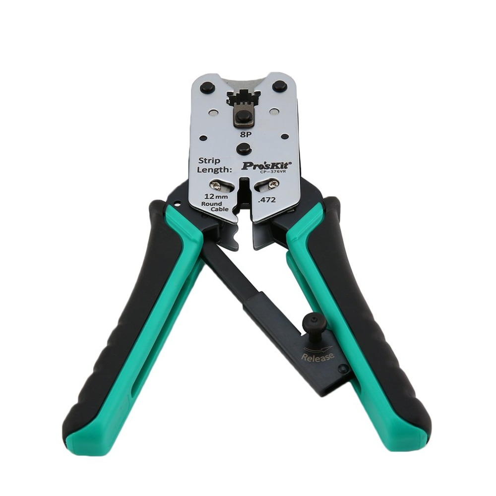 Pro'skit CP-376VR Telecom Crimping Tool Wire Crimper Plier Cutting Stripping Network Cable Pliers Automatic Ratchet Terminal 230c crimping plier tool cable clamp pressed terminal module electrical tools cutting ratchet wire crimper insulated terminal