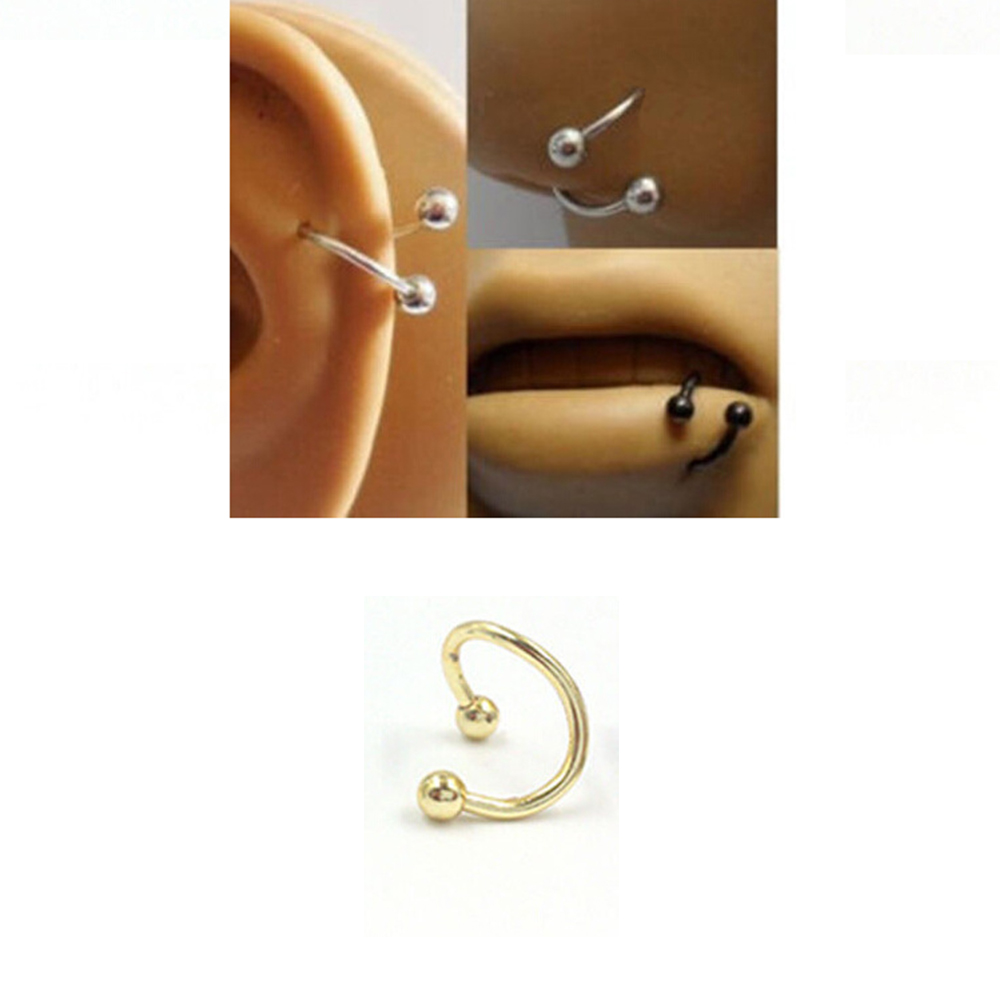US $0 12 11% OFF New Arrival Alloy Hoop Nose Ring Nose Piercing Fake  Earrings labret Piercing Septum Clicker Numbers Hanger For Jewelry-in Body