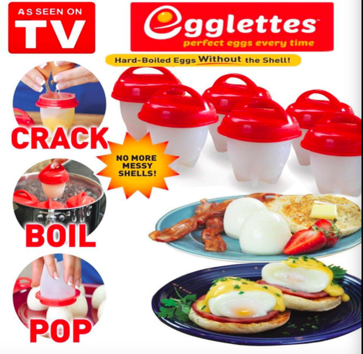 Silicone Egglettes Egg Cooker Hard Boiled Eggs without the Shell For Egg Tools Pack of 6