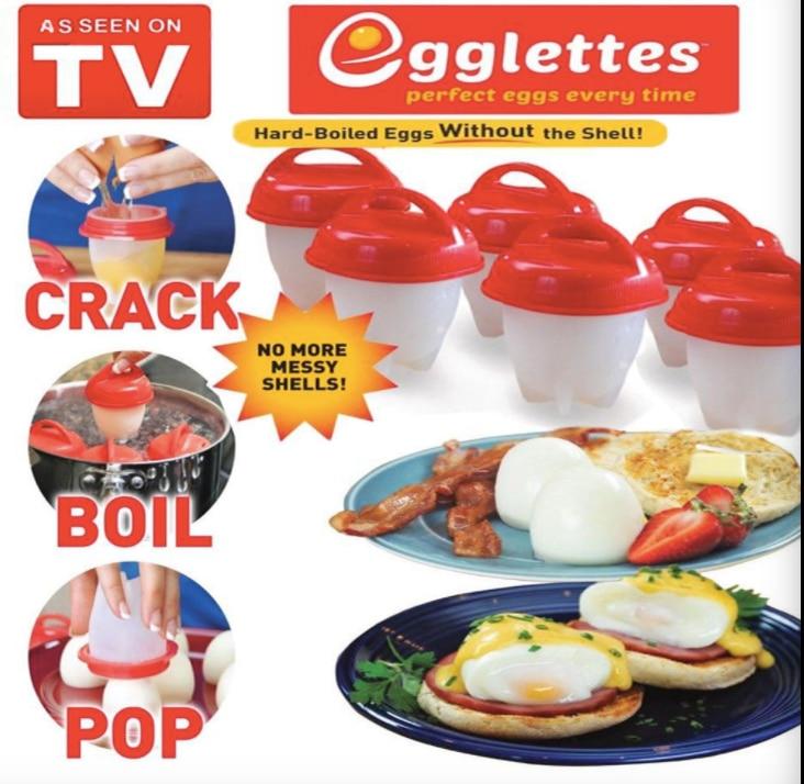 Silikon Egglettes Eierkocher Hart Gekochtes Eier ohne Schale Für Ei Werkzeuge Pack von 6