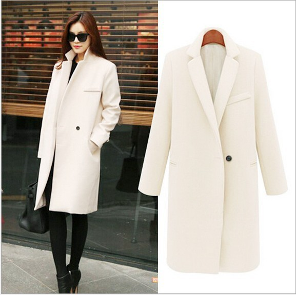 2018 Fashion women wool blazer suit outwear cashmere coat plus size ladies' spring autumn   trench   coat winter woolen overcoat
