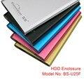 """Nueva Llegada Caja De Aluminio USB 3.0 con Cable para Caso Caja SATA hasta 1 TB hdd ssd 2.5 """"pulgadas hdd Box U25F"""