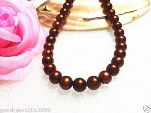 925silver GOLD CLASP HUGE AAA 11-12MM freshwater CHOCOLATE PEARL NECKLACE 18 huge elegant 15 mm freshwater black pearl necklace 18 inch 925silver clasp