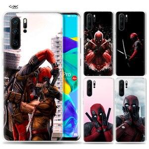 Case for Huawei P30 P20 P10 P9 Mate 10 20 Lite Pro Mobile Cell Phone Bag P Smart Z 2019 Plus Deadpool Dead Pool Funny P8 P30Pro(China)