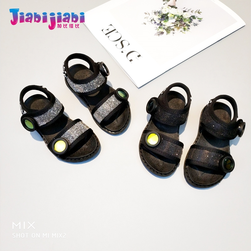 3-12T New Summer Children Boys Cozy Beach Sandal Baby Girls Fashion Roman Shoes Toddler Kids Male Leather Mirror Casual Sandals