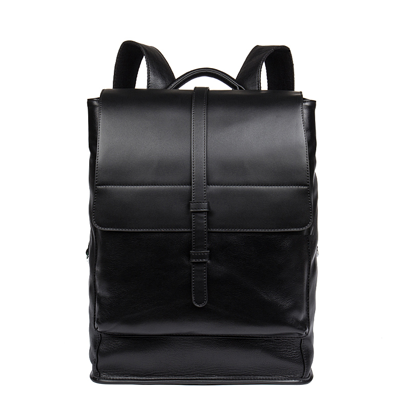 New Travel Backpack Genuine Leather Male Rucksack Leisure Student School bag Soft Leather Men Bag Business Rucksack men genuine leather fashion travel university college school bag designer male coffee backpack daypack student laptop bag 1170c