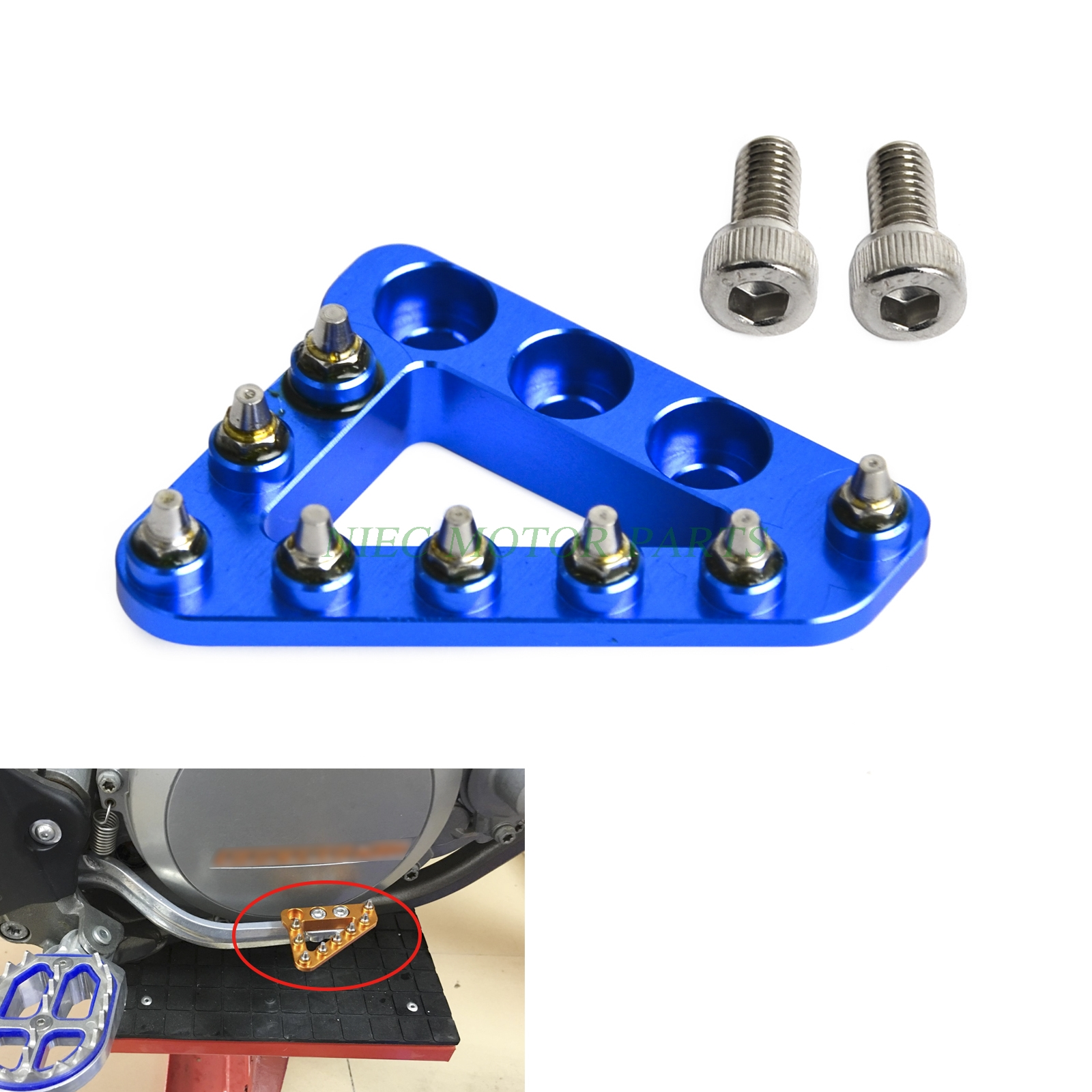 New Large CNC Rear Brake Pedal Step Plate Tip For Husaberg FE TE FS FX Husqvarna FE TC TE FC 125 250 300 450 501 650 701