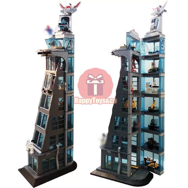 Legoing Super hero series 76038 511Pcs Attack on Avengers Tower toys For Children Gift SH678 Building Blocks Set Compatible