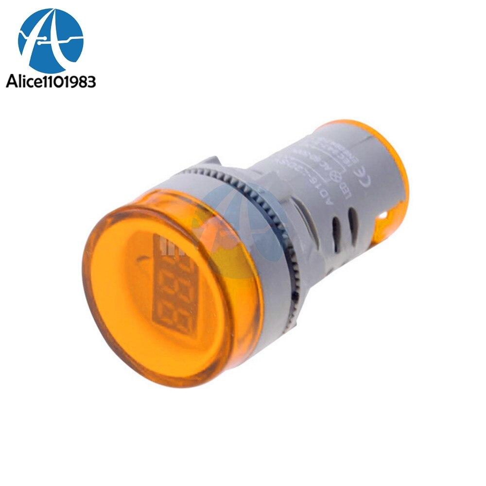 Optoelectronic Displays Led Displays Collection Here Orange Color 22mm Led Digital Display Gauge Volt Voltmeter Voltage Meter Indicator Pilot Light T90 Ac 60v-500v 0-50a