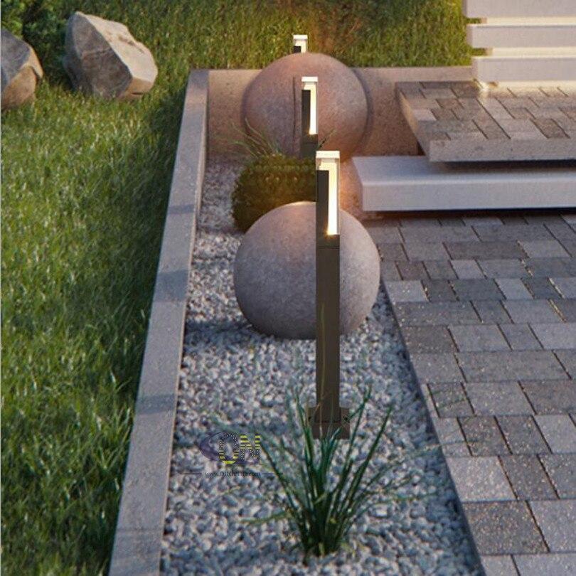 Us 25137 37 Offproste Nowoczesny Odkryty Wodoodporna Lampa Trawnikowa 12 W Oświetlenie Ogrodowe Led Z Aluminium Ogród Trawa Lampa W Lampy Led Na