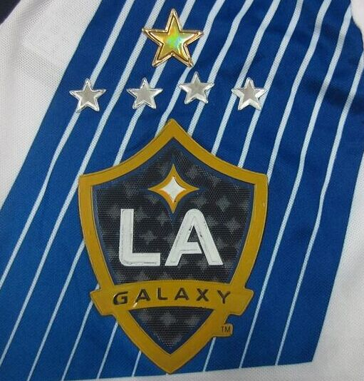 finest selection a1a96 e4d87 Latest 5 stars Los Angeles Galaxy Long sleeve Soccer Jersey ...