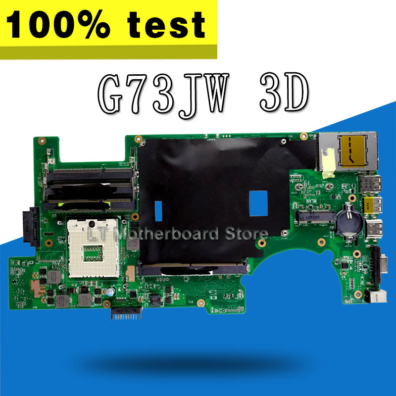 G73JW Motherboard REV2.0 3D 4RAM For ASUS G73 G73J G73JW Laptop motherboard G73JW Mainboard G73JW Motherboard test 100% OK g73sw for asus motherboard rev2 0 hm65 4ram slots 3d connector 90r n3imb1000y mainboard full test