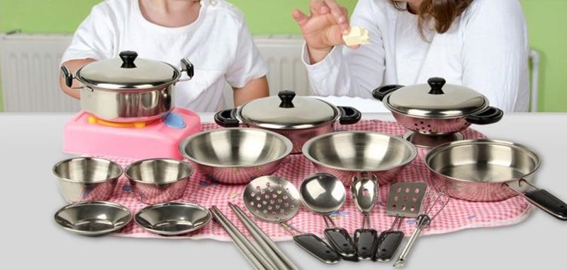 Aliexpress.com : Acquista Bambini Pretend Gioca Kitchen Toys 18 pz ...