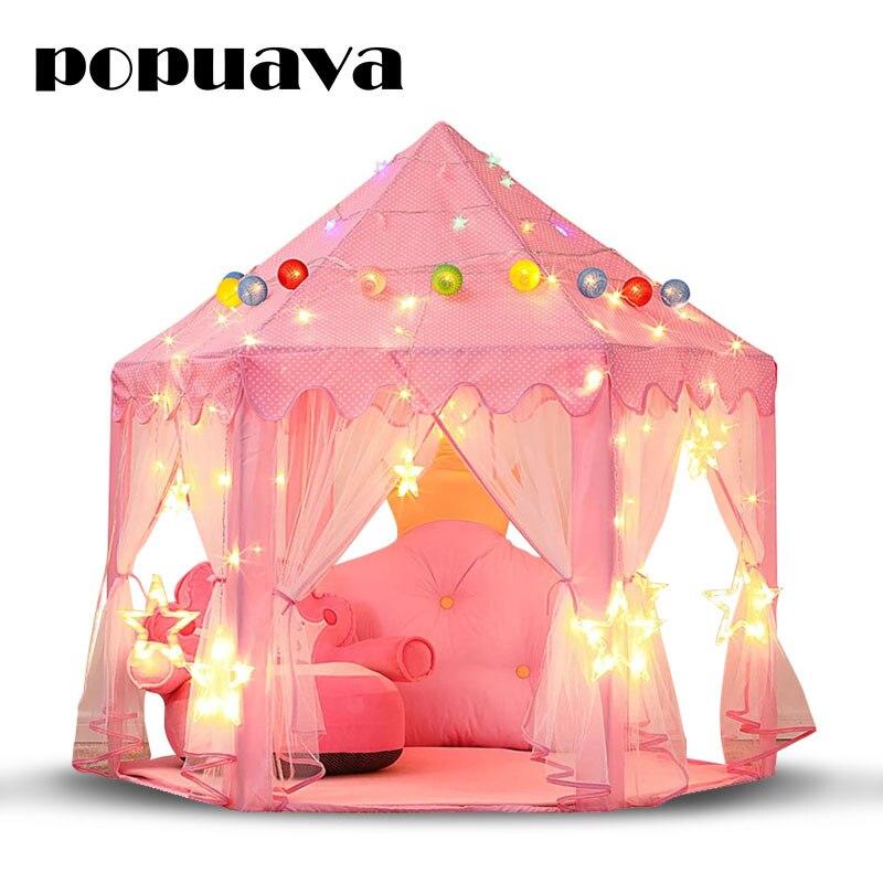 Portable Princess Castle Play Tent Children Activity Playhouse Kids Indoor & Outdoor Beach Garden Baby Play Toy Xmas Decor Gift