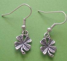 Vintage Design Silver Bijoux Clover Drop Earrings For Women Fashion Jewelry Dangle Earrings Statement Earrings Girls Gift