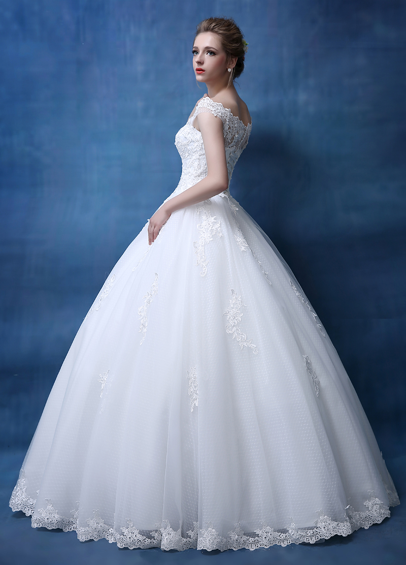 Bridal Lace Tulle A Line Wedding gowns Sleeveless bridal dresses ...