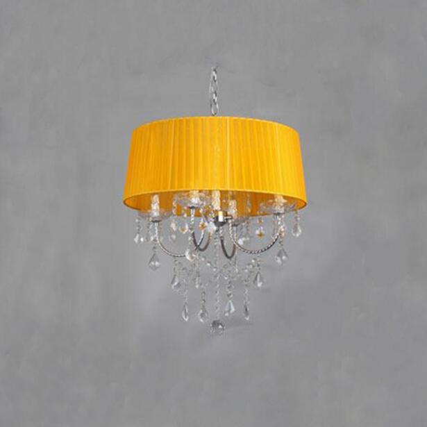 Осветительная лампа, подвесные светильники, светодиодная Хрустальная спальня, благородная Роскошная лампа, дымоход e14, лампа, стеклянная основа, светодиодная лампа, модный абажур XU - Цвет корпуса: orange