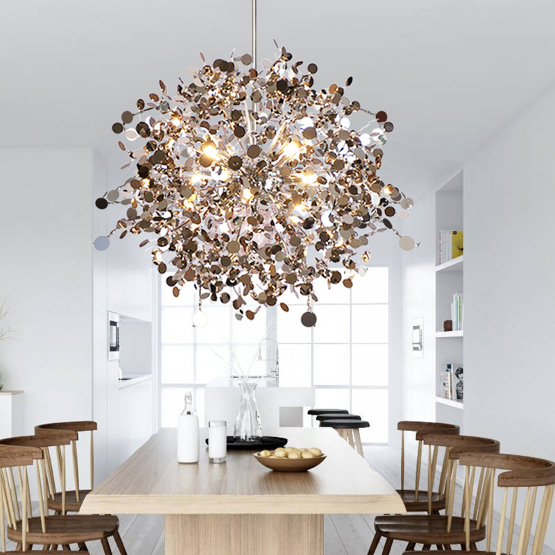 Pendant Lights stainless steel Shade Dining room Pendant Lamps led luminaire suspendu Restaurant Living room Light Fixtures