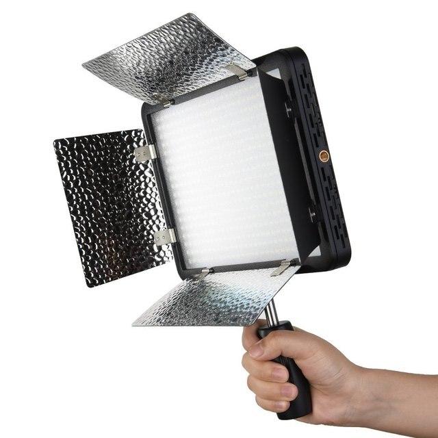 Godox LED500LR/W LED Video Light 5600K White Version w/ Reflectors & Remote Control For Studio Photography Video Recording