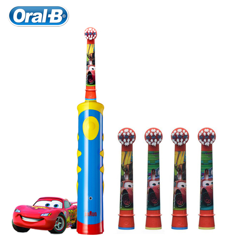 Children Electric Toothbrush Oral B Cars Tooth Brush D10 Replaceable Brush Heads EB10 Music Timer for Children Ages 3+